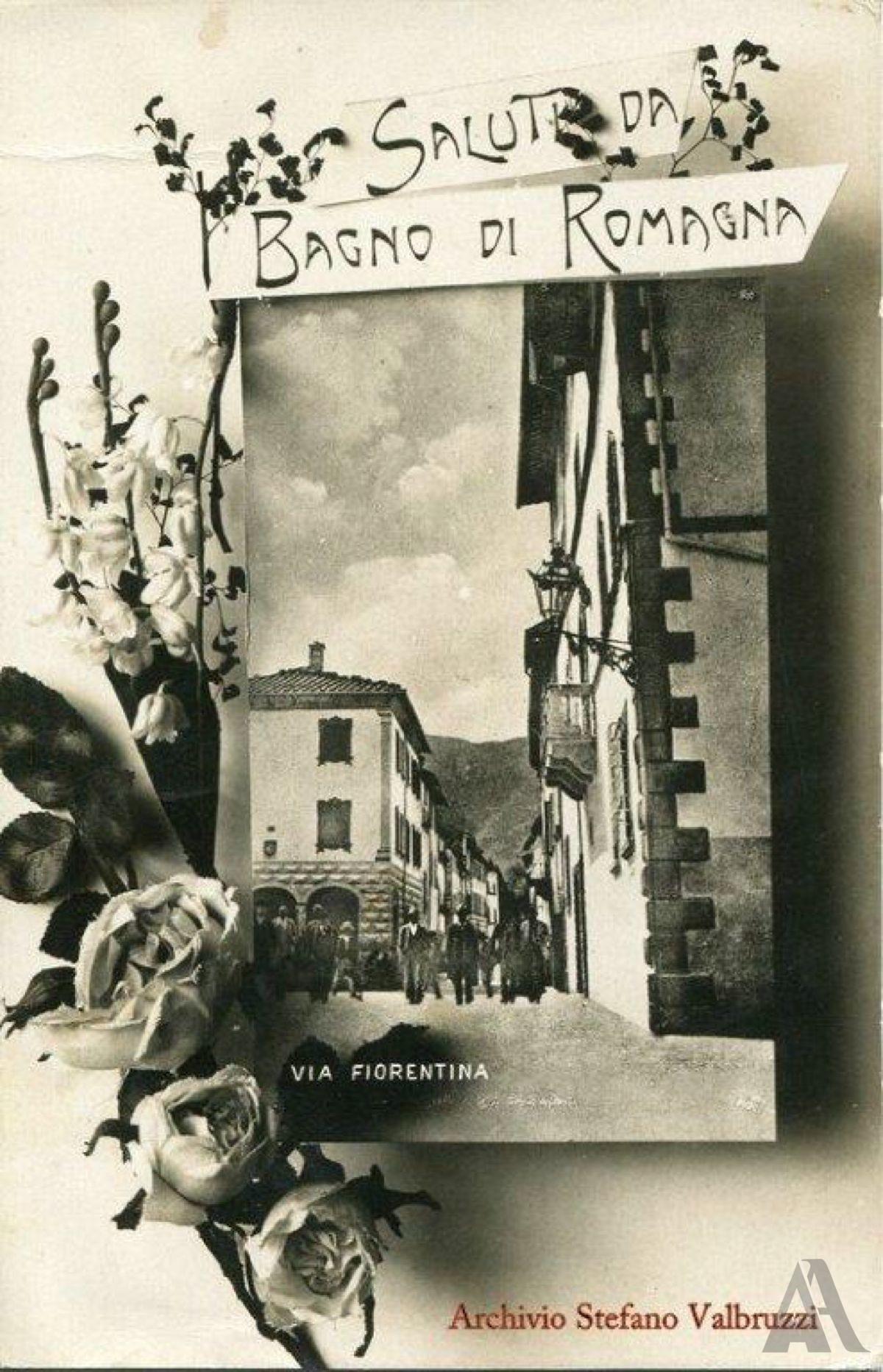 Cartolina – B/N, lucido, da lastra, cm 14x9, con ornato floreale a sinistra.